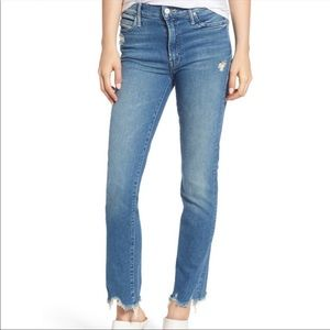 MOTHER The Rascal Ankle Chew Denim Jeans